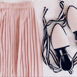 {vintage} silk accordion skirt